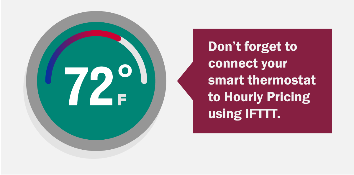 Don't forget to connect your smart thermostat to Hourly Pricing using IFTT.
